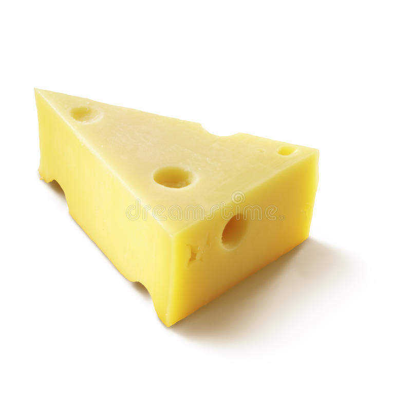 A wedge of cheese royalty free stock image