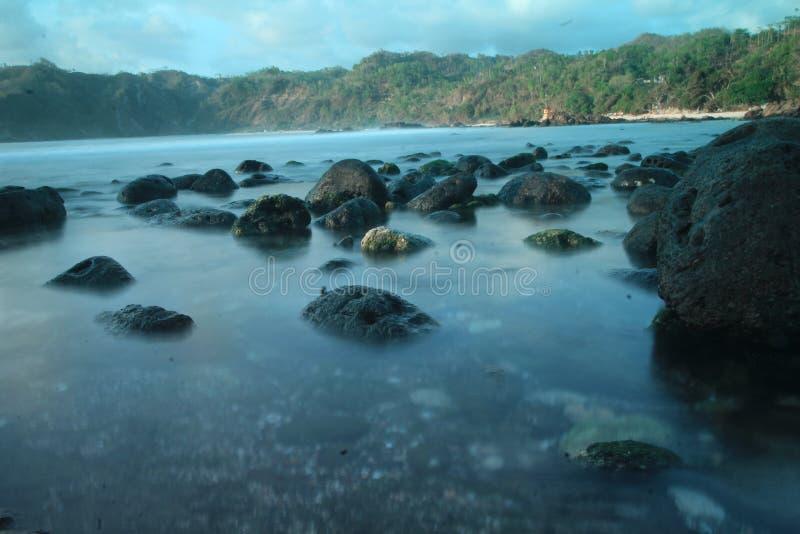 Wedi ombo Beach Yogyakarta indonesia lizenzfreie stockfotografie