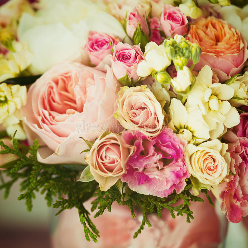 Weding Blumen Instagram-Effekt, Weinlesefarben lizenzfreie stockbilder