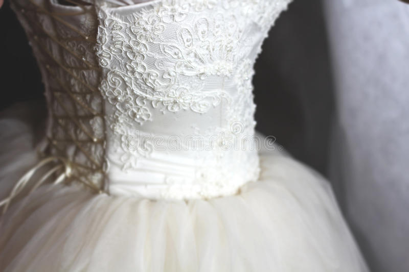 A weding dress stock photography