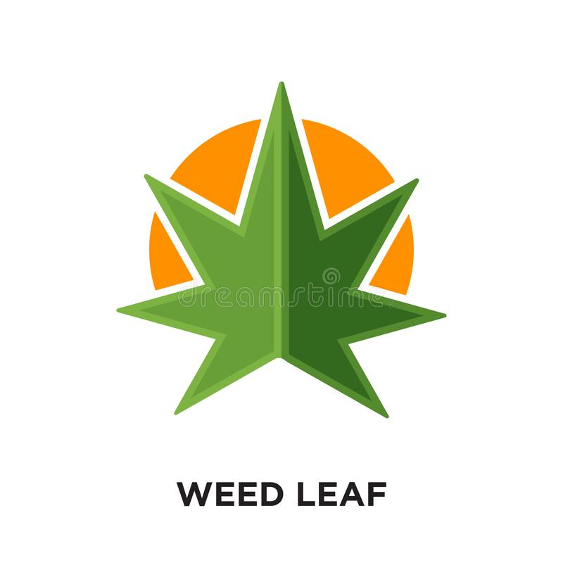 weed leaf logo isolated on white background for your web, mobile vector illustration