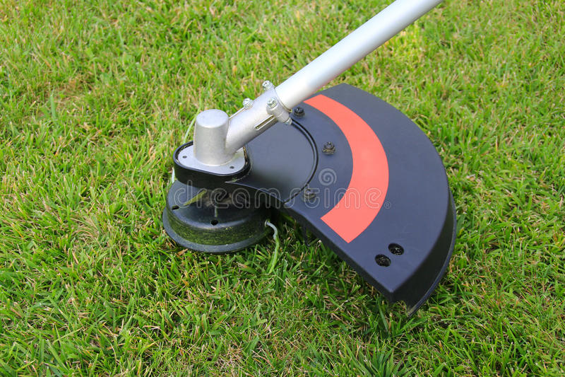 Weed trimmer. Part of weed trimmer, close-up royalty free stock photos