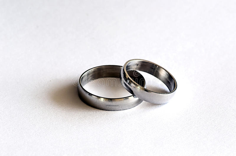 Weeding ring. Picture of silver Weeding ring stock image