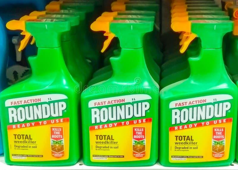 Weedkiller do ajuntamento por Monsanto imagem de stock