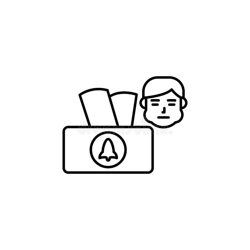 Weefseldoos, allergisch pictogram Element van problemen met allergieënpictogram Dun lijnpictogram voor websiteontwerp en ontwikke stock illustratie