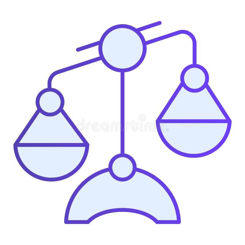 Weegschaal vlak pictogram Schalen blauwe pictogrammen in in vlakke stijl Het gelijke ontwerp van de gradiëntstijl, dat voor Web e stock illustratie