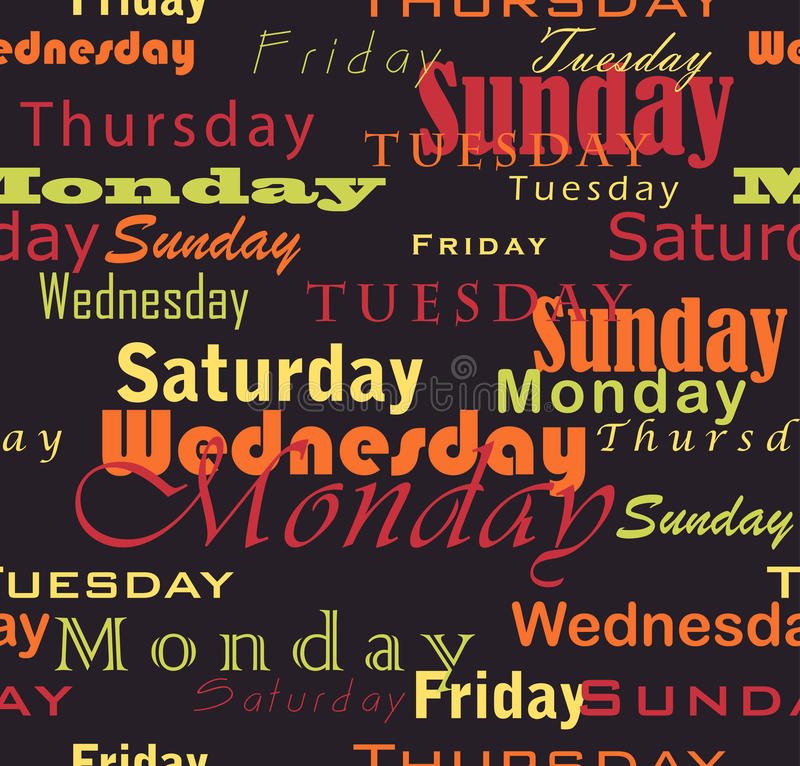 Download Week Days Stock Photos - Image: 12029973