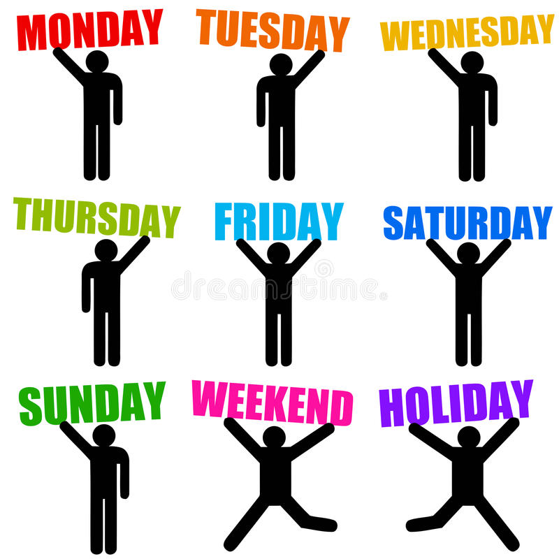 Download Week days stock illustration. Image of chronology, personal - 28967944