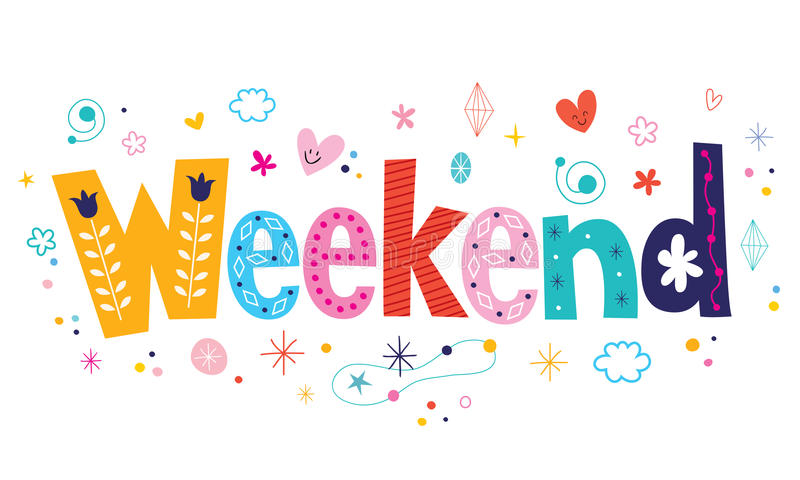 week-end illustration stock