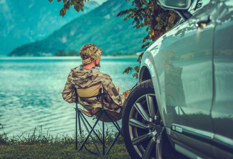 Week-end au lac photographie stock