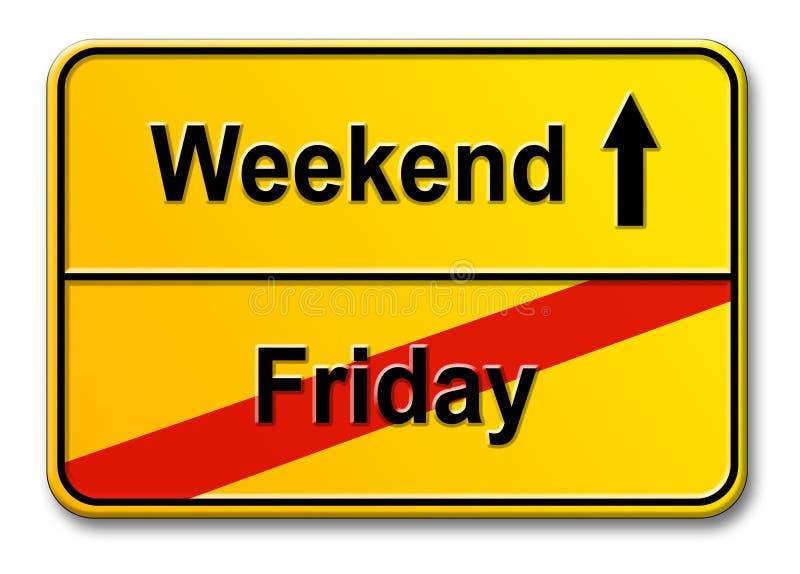 week-end de vendredi illustration de vecteur