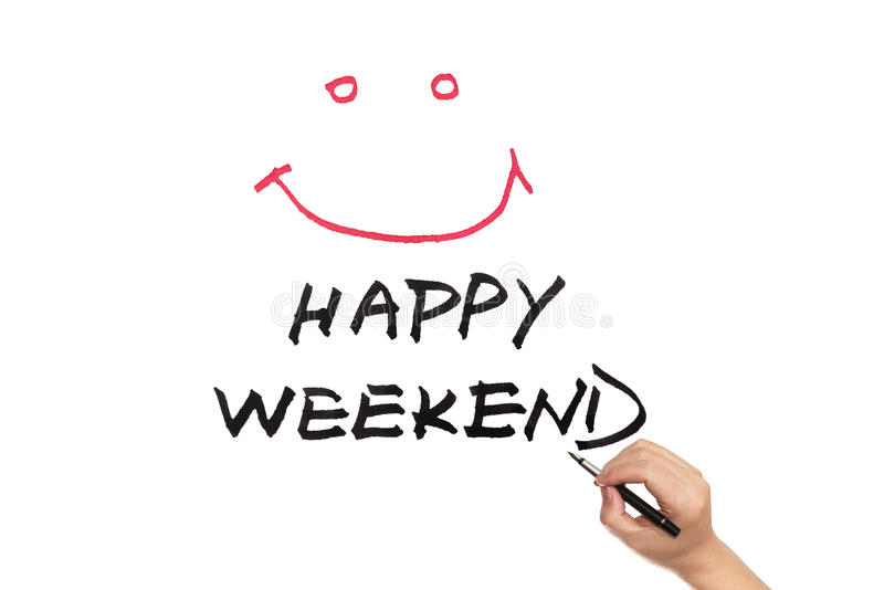 Week-end heureux images stock