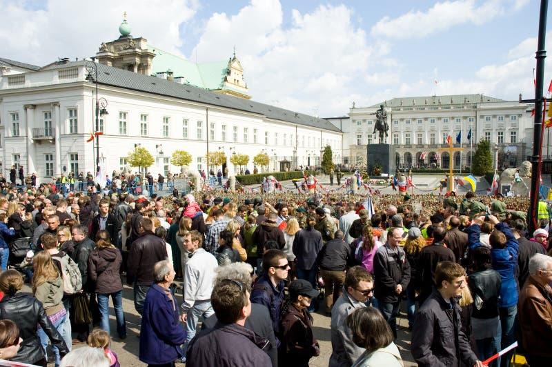 Week van het rouwen in Polen stock fotografie