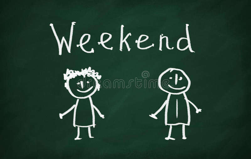 weekend royalty-vrije illustratie