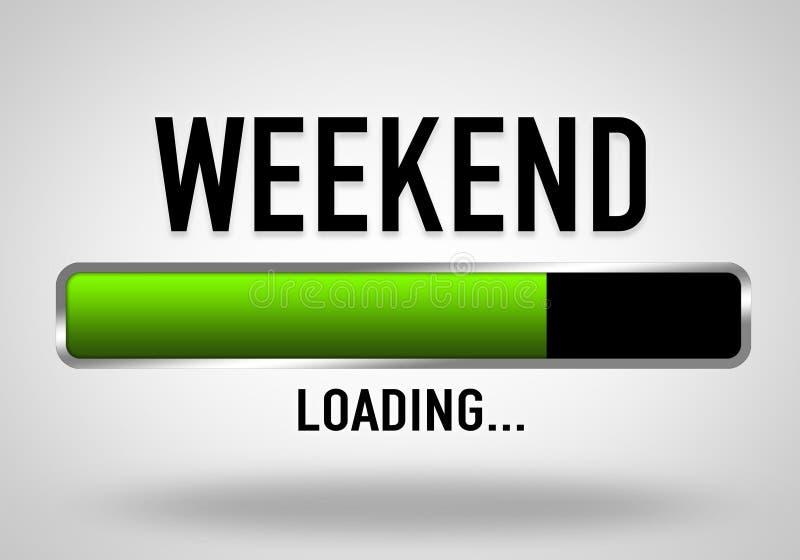 weekend vector illustratie