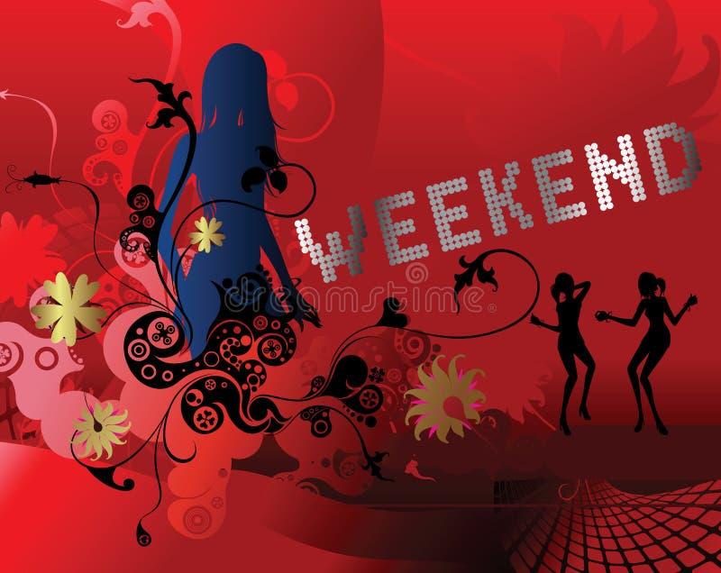Weekend stock illustratie