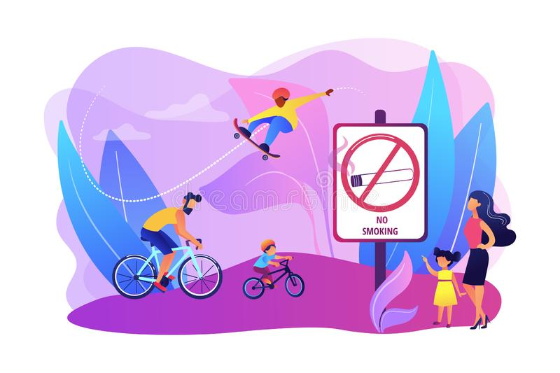 Smoke free zone concept vector illustration royalty free illustration
