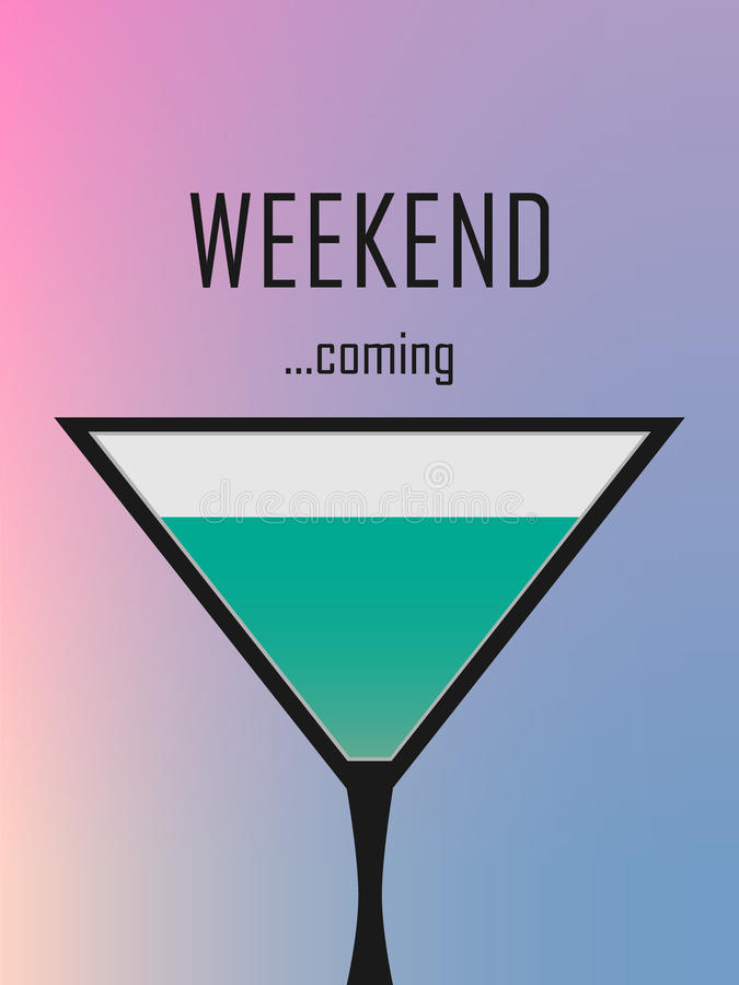 Weekend is coming royalty free illustration