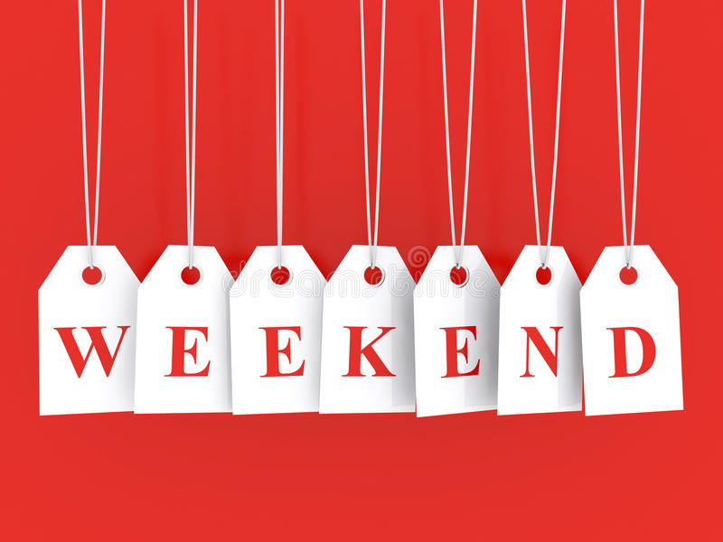 Weekend disounts vector illustratie