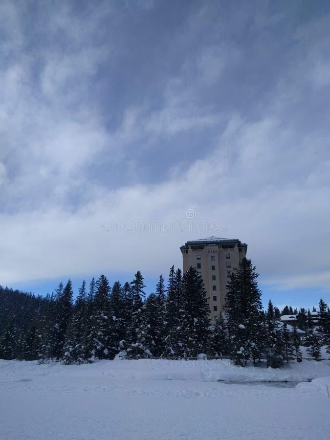 Roaming around Banff, Alberta, Calgary in winter. Weekend getaway to Banff National Park, Alberta. The road view was amazing stock photos