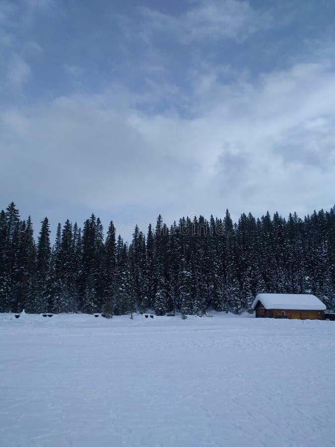 Roaming around Banff, Alberta, Calgary in winter. Weekend getaway to Banff National Park, Alberta. The road view was amazing stock image
