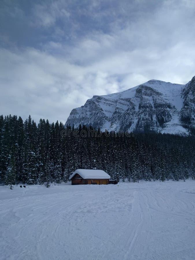 Roaming around Banff, Alberta, Calgary in winter. Weekend getaway to Banff National Park, Alberta. The road view was amazing stock images
