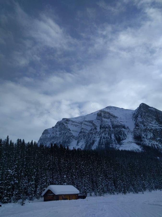 Roaming around Banff, Alberta, Calgary in winter. Weekend getaway to Banff National Park, Alberta. The road view was amazing royalty free stock image