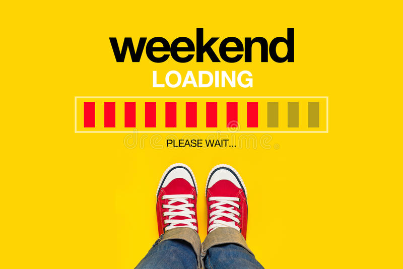 Weekend Loading Concept stock photo