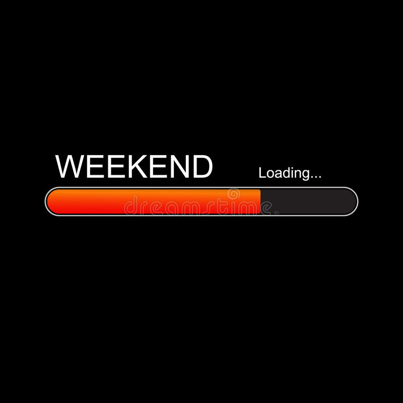 Weekend loading progress Bar. royalty free illustration