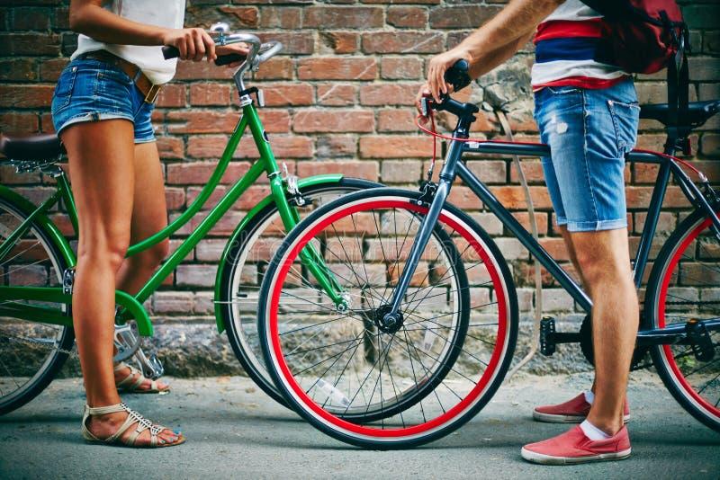 Weekend met fietsen stock afbeelding