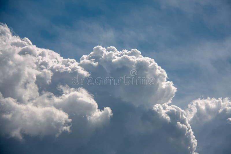 Beautiful sky full of clouds. Weekend in Russian countryside: Beautiful sky full of clouds stock photography