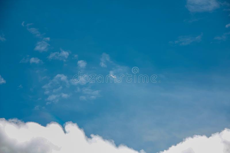Beautiful sky full of clouds. Weekend in Russian countryside: Beautiful sky full of clouds stock photos