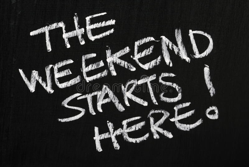 The Weekend Starts Here! royalty free stock photos