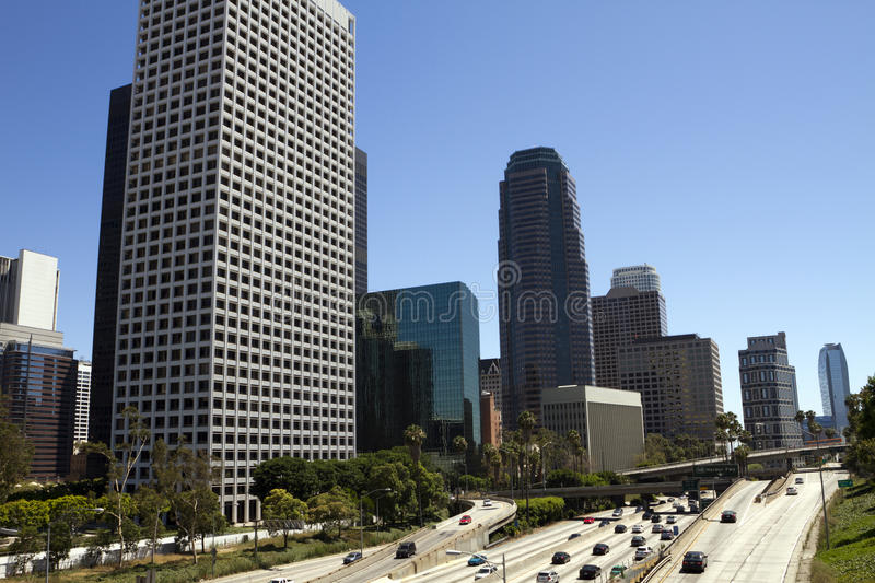 Download Weekend Traffic Through Downtown Los Angeles Stock Photo - Image: 25525074