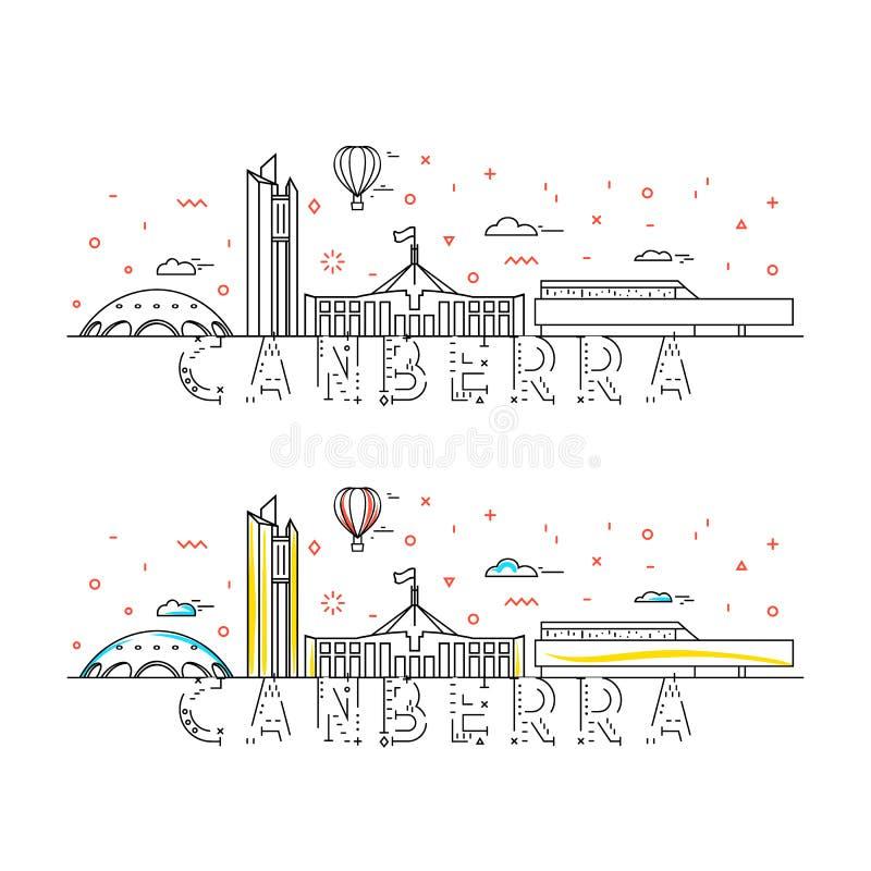 Weekend w Canberra Stolica Australia r royalty ilustracja