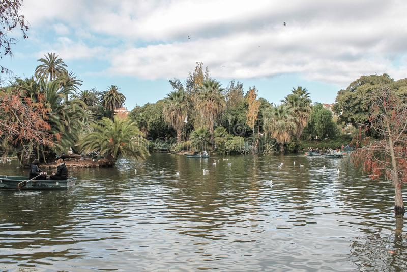Weekend w mieście Barcelona ciutadella De Los angeles Parc zdjęcie stock