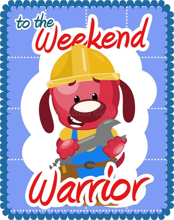 Weekend warrior greeting stock illustration