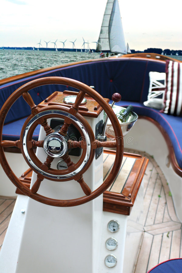 Weekend yacht royalty free stock image