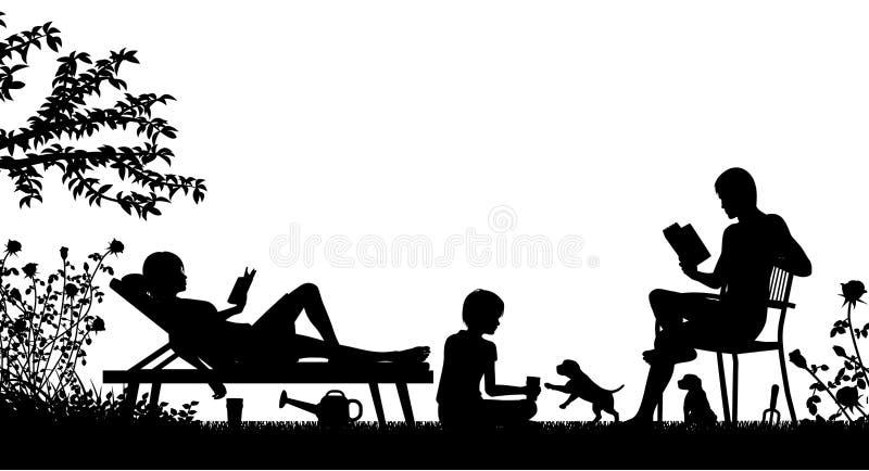 Weekendowa rodzina ilustracja wektor