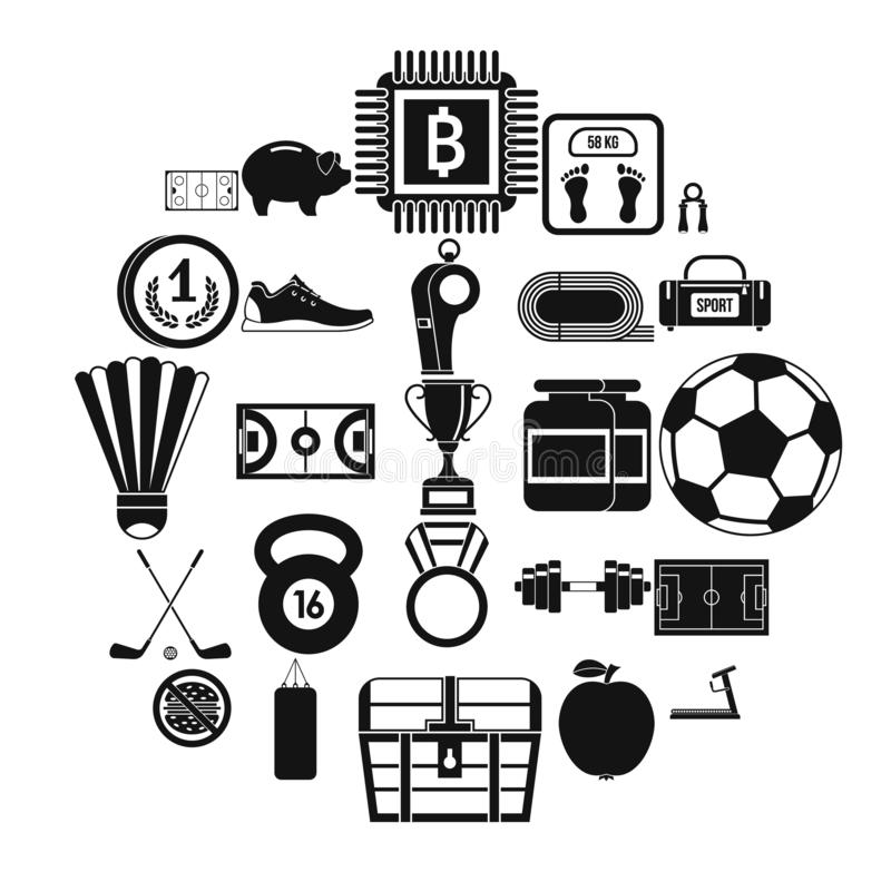 Weekendowe ikony ustawiać, prosty styl ilustracja wektor