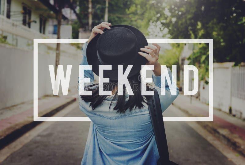 Weekendowy relaksu czasu wolnego szczęścia czasu wolnego pojęcie fotografia royalty free