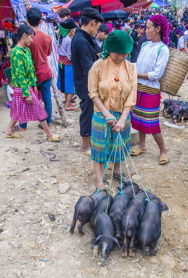 Weekendu rynek w Van Wietnam zdjęcia royalty free