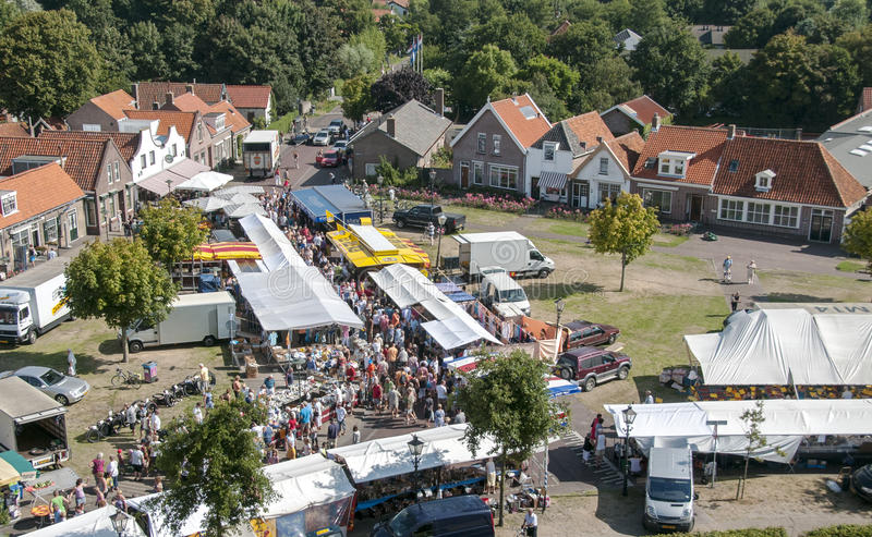 Weekly market in Renesse in Holland stock photography