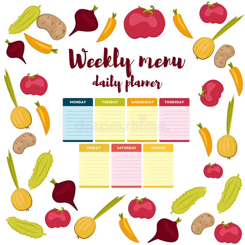 lunch calendar template