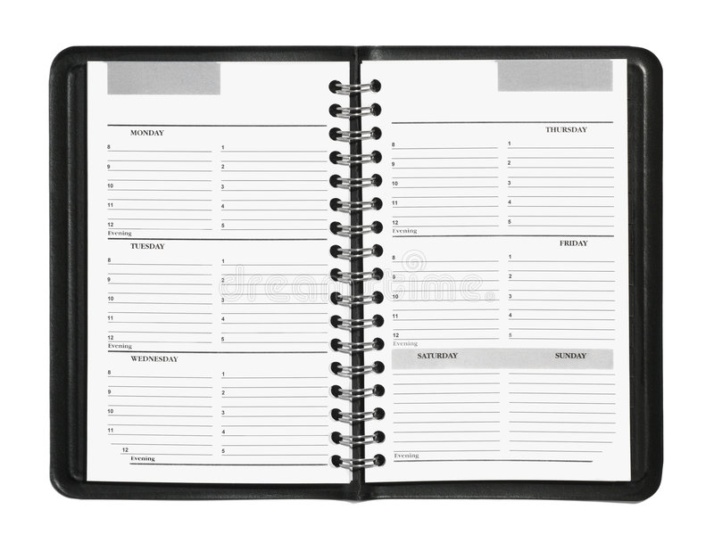 Download Weekly Planner stock image. Image of week, calendar, isolated - 7029659
