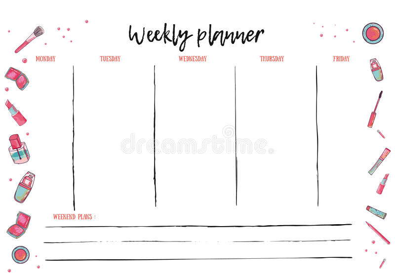activity planner template