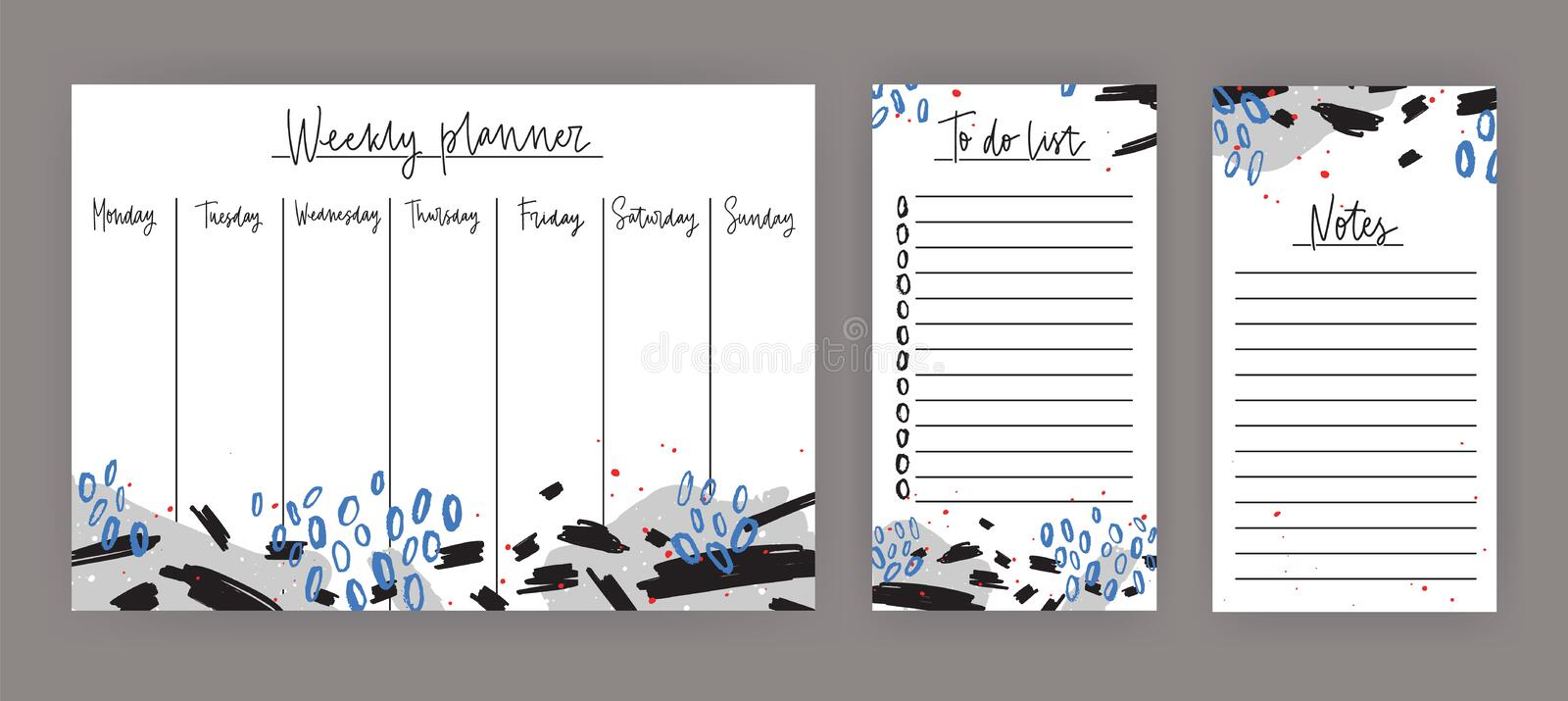 Weekly planner with weekdays sheet for notes and to do list download weekly planner with weekdays sheet for notes and to do list templates decorated with maxwellsz