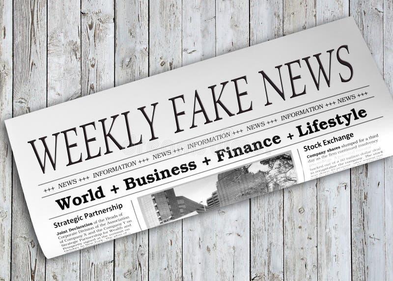 Weeklyen fejkar nyheternatidningen royaltyfria bilder