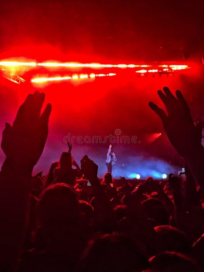 The Weeknd performing. longitude, Ireland. July 2017 stock images