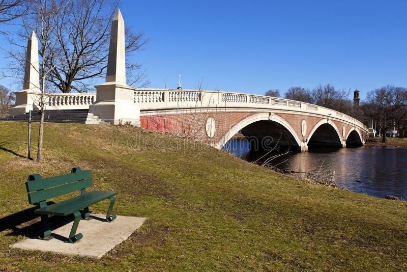 Weeks Memorial Footbridge. View of the Weeks Memorial Footbridge in Boston, Massachusetts - USA royalty free stock images